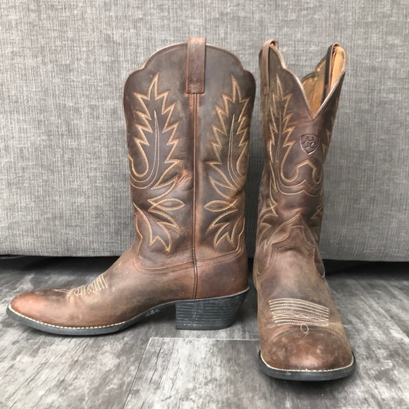 d1c5dec1421 Ariat Heritage Western R Toe Leather Boots S 9.5B